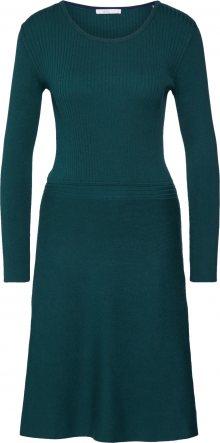 EDC BY ESPRIT Úpletové šaty tmavě zelená