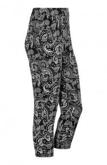 Úpletové kalhoty / černá/bílá