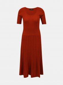 Hnědé svetrové šaty Trendyol