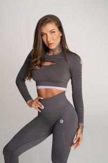 Gym Glamour Crop Top Deynn Šedý XS