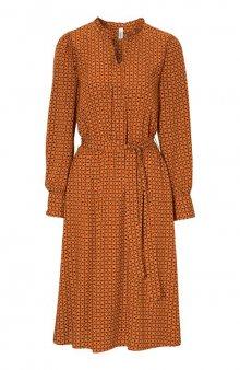 Viskózové šaty se vzorem Gigi / oranžová/se vzorem
