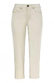 Capri kalhoty s dekorativními švy Mia / sv. žlutá