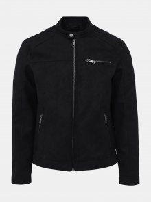 Černá bunda v semišové úpravě Jack & Jones Rocky