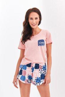 Krátké dámské pyžamo 2288 NESSA S-XL meruňková L