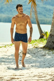 Pánské plavky - boxerky Henderson 37813 Hype navy L