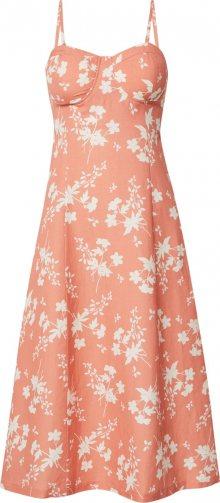 EDITED Letní šaty \'Yumiko\' jasně oranžová / bílá