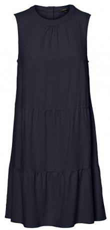 Vero Moda Dámské šaty VMHELENMILO SL SHORT DRESS WVN Night Sky XS