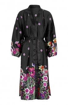 Kimono / černá/květovaná