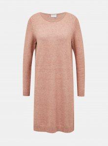 Starorůžové svetrové šaty VILA