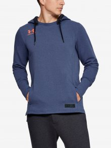 Mikina Under Armour Accelerate Off-Pitch Hoodie Modrá