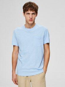 Světle modré basic tričko Selected Homme Jared