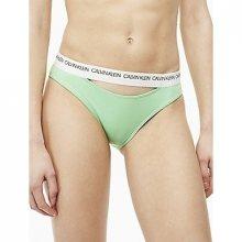 Calvin Klein Plavky CK Logo Classic Bikini Green Spodní Díl L