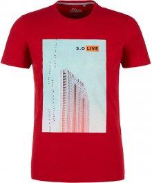 s.Oliver Pánské triko 13.003.32.4738.3185 Marker red M