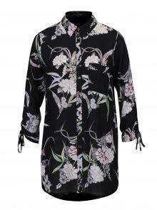 Černá průsvitná květovaná halenka Dorothy Perkins