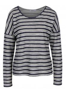 Tmavě modré pruhované tričko s dlouhým rukávem Haily´s Enni