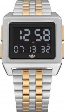 ADIDAS ORIGINALS Digitální hodinky \'Archive_M1\' černá / stříbrná / zlatá