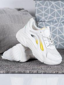 Trendy bílé dámské  tenisky bez podpatku 37