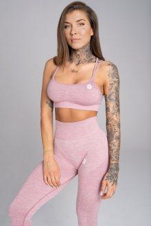 Gym Glamour Podprsenka Seamless Pink Melange XS