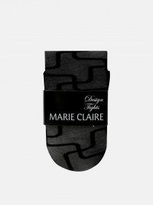 Černé vzorované punčochové kalhoty Marie Claire