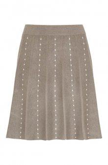 Pletená sukně Cloe / nugát. melír