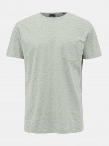 Světle zelené pánské basic tričko ZOOT Brandon