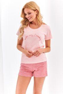 Krátké dámské pyžamo 2361 NIKA S-XL meruňková S