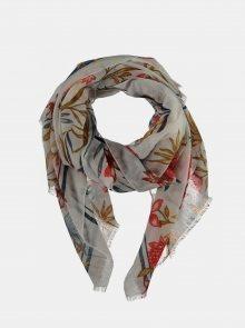 Červeno-krémový dámský šátek Haily´s Tati