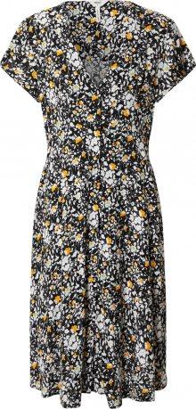 OBJECT Šaty černá / bílá / žlutá