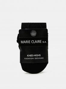 Černé vzorované podkolenky Marie Claire
