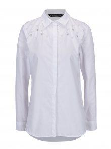 Bílá košile s kamínky Dorothy Perkins