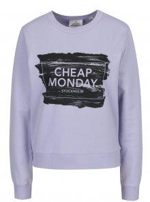 Světle fialová dámská mikina s potiskem Cheap Monday