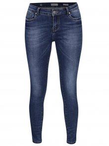 Modré skinny super stretch džíny se středně vysokým pasem Haily´s Maria