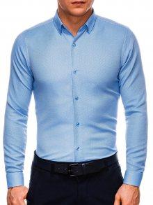 Ombre Clothing Modrá pánska košeľa k527