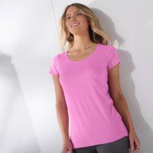 Blancheporte Jednobarevné tričko s krátkými rukávy lila 42/44