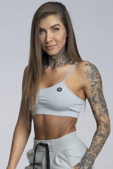 Gym Glamour Podprsenka Simply Grey XS