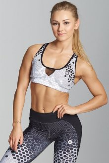 Gym Glamour Podprsenka White Honey Combs M