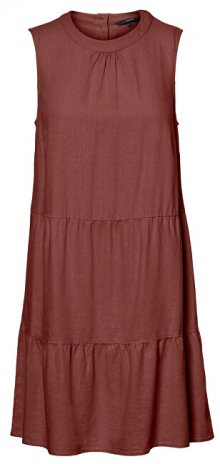 Vero Moda Dámské šaty VMHELENMILO SL SHORT DRESS WVN Sable XS