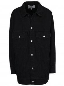 Černá dámská džínová oversize bunda s potiskem Cheap Monday