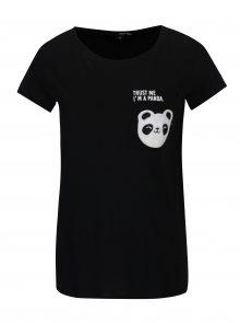 Černé tričko s kapsou a nášivkou TALLY WEiJL