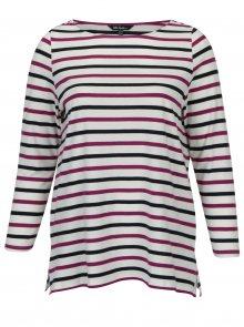 Fialovo-krémové pruhované tričko Ulla Popken