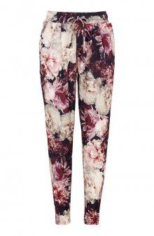 Kalhoty Anje / černá/květovaná
