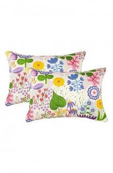 Povlak na dekorativní polštář Night Garden v pestrých barvách 2 Pack / nám. modrá