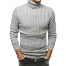Pánský MODERN svetr golf šedý