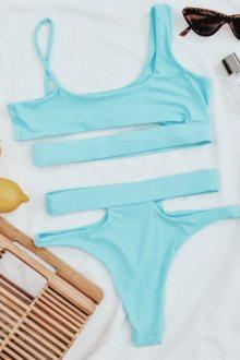 Hugz Plavky Malibu Cut Out Bikini Blue L