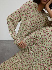 EDITED Košilové šaty \'Ricarda\' světle zelená / tmavě růžová