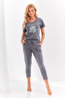 Krátké dámské pyžamo 2164 ALEXA S-XL šedá S