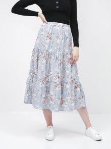 Modrá květovaná sukně VILA Bambi
