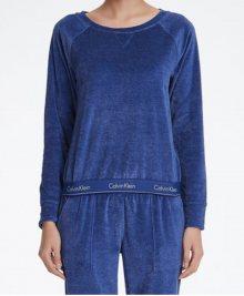 Calvin Klein Semišová Mikina Modrá S