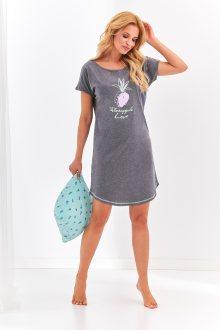 Krátká dámská noční košile 2156 PIA S-XL šedá M