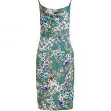 Vila Dámské šaty VISITRA STRAP DRESS/DC Cameo Green FLOWER 34
